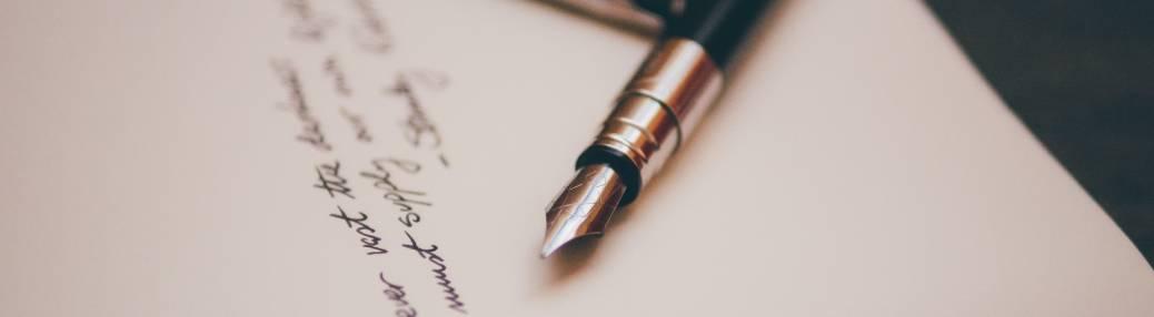 Black fountain pen on paper