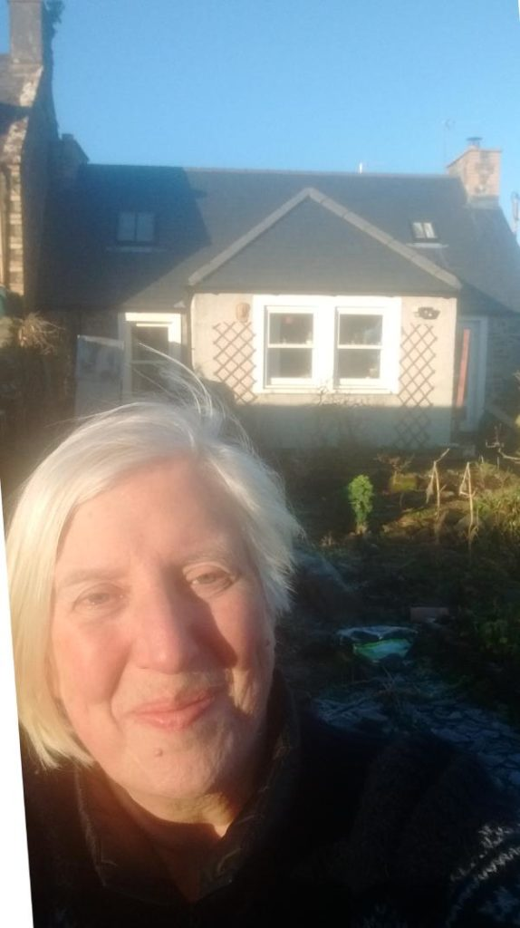 Gill at her house