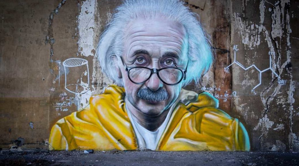 Albert Einstein graffiti